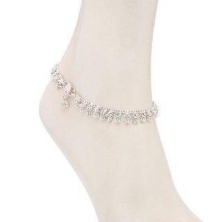 Sukkhi Eye-Catchy Rhodium Plated Australian Diamond Stone Studded Anklet