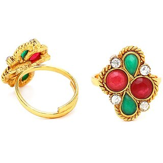 Sukkhi Creative Gold Plated Australian Diamond Stone Studded Toering