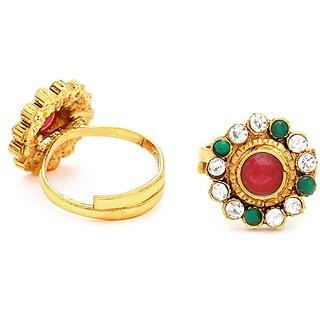 Sukkhi Gracefull Gold Plated Australian Diamond Stone Studded Toering