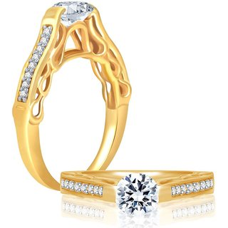 Sukkhi Marvellous Gold & Rhodium Plated Cubic Zirconia Studded Solitaire Ring
