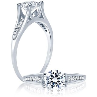 Sukkhi Graceful Rhodium Plated Cubic Zirconia Stone Studded Solitaire Ring