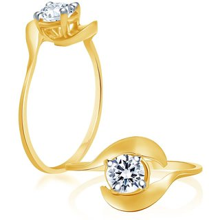 Sukkhi Fascinating Gold & Rhodium Plated Cubic Zirconia Studded Solitaire Ring
