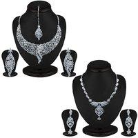 Sukkhi Trendy 2 Piece Necklace Set Combo