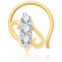 Sukkhi Fascinating Gold And Rhodium Plated Cz Nose Pin
