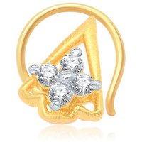 Sukkhi Beguiling Gold and Rhodium Plated CZ Nose Pin