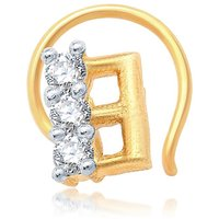 Sukkhi Stunning Gold and Rhodium Plated CZ Nose Pin