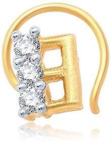 Sukkhi Stunning Gold and Rhodium Plated CZ Nose Pin