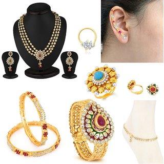 Sukkhi Youthful 8 Piece Fashion Jewellery Combo