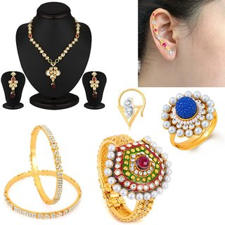Sukkhi Classic 6 Piece Fashion Jewellery Combo