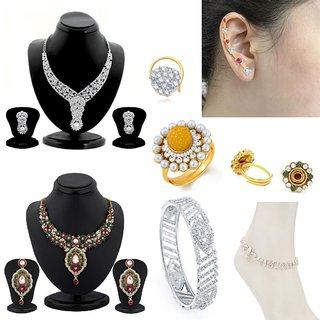 Sukkhi Elegant 8 Piece Fashion Jewellery Combo