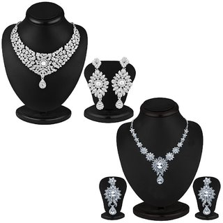 Sukkhi Glorius 2 Piece Necklace Set Combo