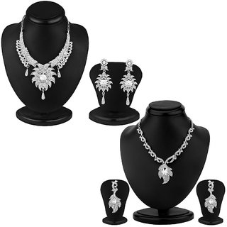 Sukkhi Beguiling 2 Piece Necklace Set Combo