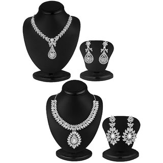 Sukkhi Resplendent 2 Piece Necklace Set Combo