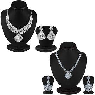 Sukkhi Lavish 2 Piece Necklace Set Combo