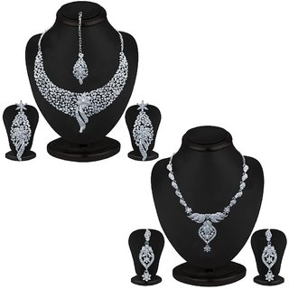 Sukkhi Trendy 2 Piece Necklace Set Combo