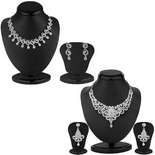 Sukkhi Stylish 2 Piece Necklace Set Combo