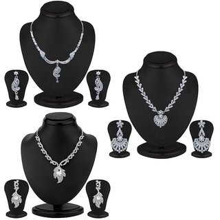 Sukkhi Modern 3 Piece Necklace Set Combo