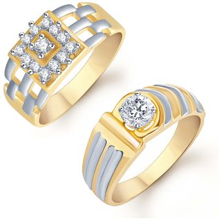 Sukkhi Glamorous 2 Piece Ring Combo for Men