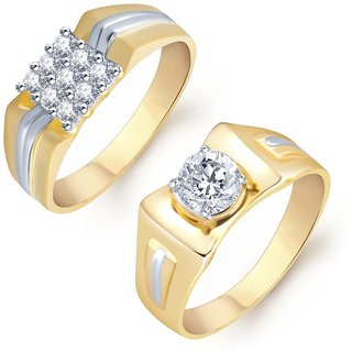 Sukkhi Excellent 2 Piece Ring Combo for Men