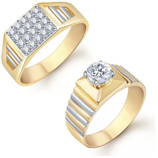 Sukkhi Glorious 2 Piece Ring Combo for Men