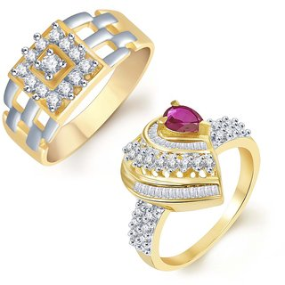 Sukkhi Shimmering 2 Piece Ring Combo for Men and Women