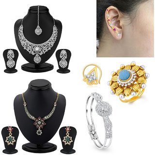 Sukkhi Briliant 6 Piece Fashion Jewellery Combo
