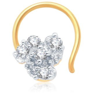 Sukkhi Marvellous Gold and Rhodium Plated CZ Nose Pin