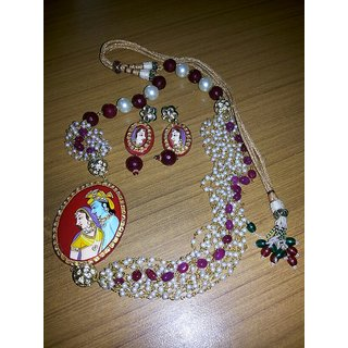 Beautiful Radha Kishan Necklace With Earrings