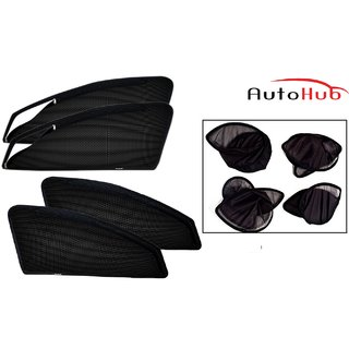 Autohub Premium Quality Magnetic Folding Sun Shade With Zipper For Mitsubishi CEDIA