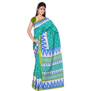 Varanga Multicolor Bhagalpuri Silk Printed Saree with Unstitched Blouse KF-BGPSR78