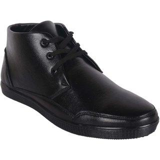 Austrich Men's Black Lace-up Formal Shoes