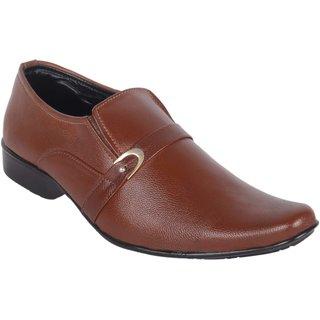 Austrich Men's Brown Open Formal Shoes