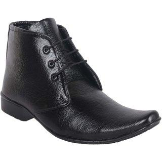 Austrich Mens Black Formal Lace-Up Shoes