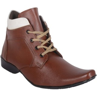 Austrich Men's Brown Lace-up Formal Shoes