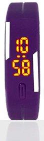 Adamo Round Dial  Purple Plastic Analog Watch For Women's