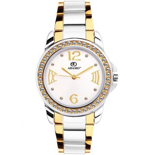 1fecf6667 Buy ADAMO SHINE FORMAL WOMEN WRIST WATCH AD39BM01 Online - Get 79% Off