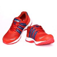 Blue Pop Men Red Lace-up Running Shoes - 108554328