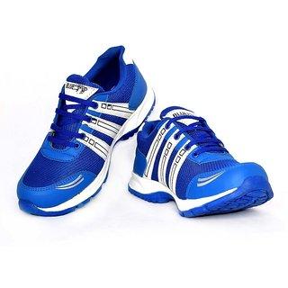 Blue Pop Men Blue Lace-up Running Shoes