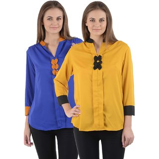 Westrobe Womens Yellow and Blue Top Combo