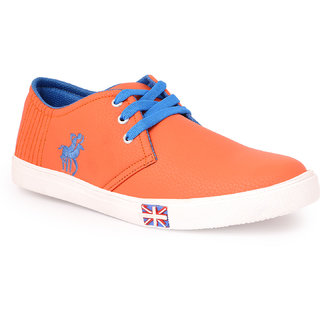 Mykon Orange Sneakers Shoes