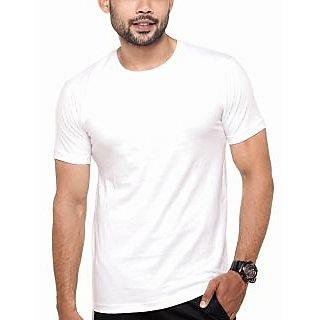 Men's Round Neck Plain T-Shirt White Color. Sizes  S-38, M-40, L-42, XL-44, XXL-46