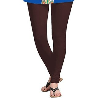 d80430588f987d Buy Cotton Lycra Churidar Leggings For Woman - Brown Online @ ₹600 from  ShopClues