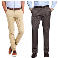 Gwalior Men's Multicolor Regular Fit Casual Trousers
