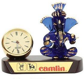 Blue Ganesha with Clock