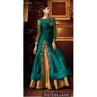 Women's Designer Semi Stitched Georgette Salwar Suit