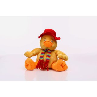 E Soft Cute Yellow Duck with Muffler Soft Toy - 42 cm