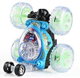 The Flyer'S Bay Remote Controlled 360 Degree Twister Stunt Car For Kids With Music (Blue)