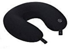 AllExtreme U Shape Beads Neck Head Rest Memory Foam Pillow Vibrating For Sleeping,Driving,Flights For Men/Women (Black)