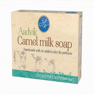 Aadvik Camel Milk Soap (Peppermint and Rosemery) 100 gms. pack