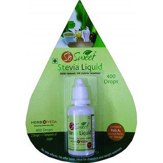 So Sweet Stevia Liquid Pack 4-1600 Drops 100 Natural Sweetener Sugarfree